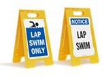Lap Lane Signs