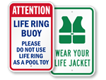 Life Jacket Signs