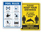 More Pools Social Distancing Signs