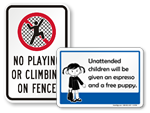 Playground Rules Signs with Pictograms