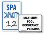 Pool & Spa Capacity Signs