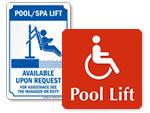 Pool Lift Signs