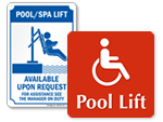 Pool Lift Signs
