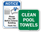 Towel Off Signs
