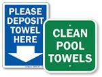 Pool Towel Signs