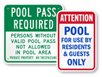 Private Pool Signs