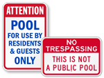 Private Pool Sign