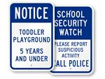 School Playground Signs