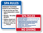 Spa Rule Signs
