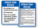 Spray Pad Rules Signs