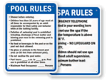 State Pool & Spa Signs