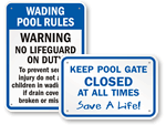 Wading Pool Signs