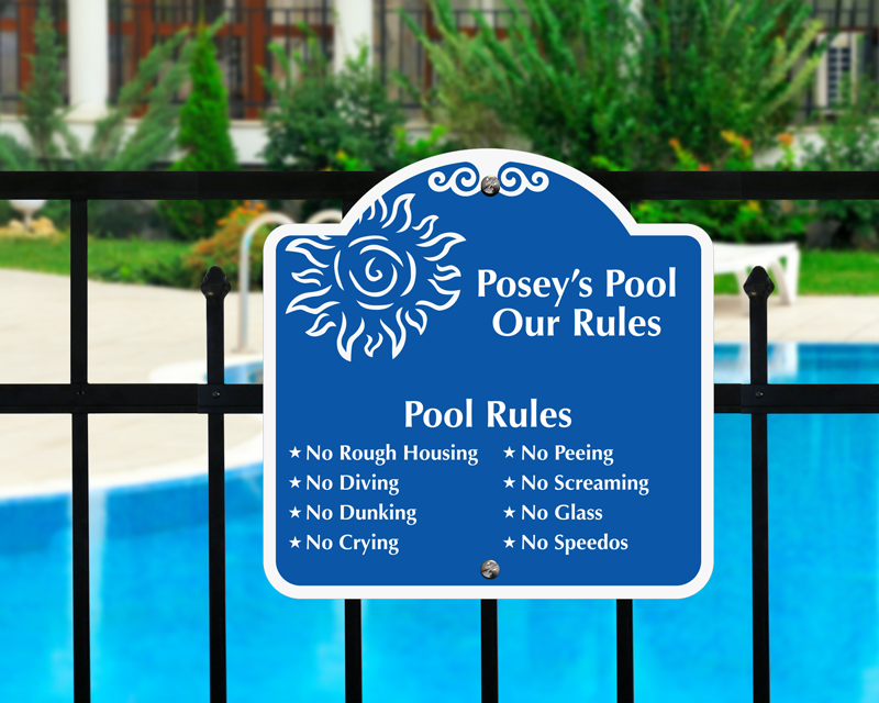 Custom Swimming Pool Signs | Personalized Pool Signs