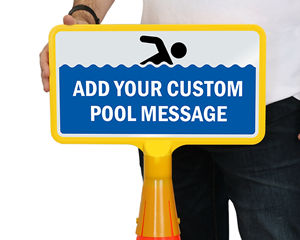 Cone boss Custom Pool Signs