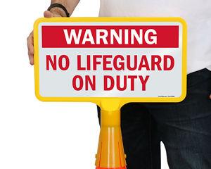 Cone Boss No Lifeguard Signs