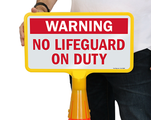 Cone Boss No Lifeguard Signs