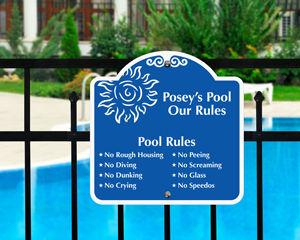Custom pool sign