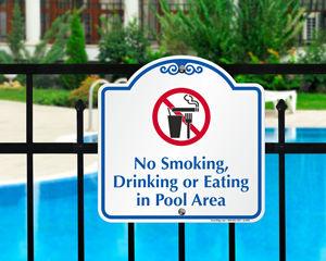 Decorative pool signs
