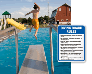 Diving Board Rules Signs | Diving Rules Signs
