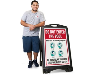 Do not Enter the Pool Safety Sign