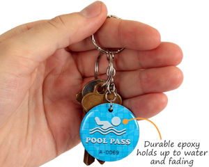 epoxy pool key tag