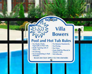 Funny Pool Signs | Humorous Swimming Pool Signs