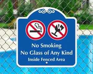 No smoking allowed near pool