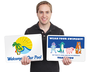 Novelty Pool Signs
