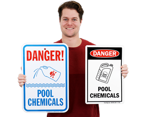Pool chemical signs