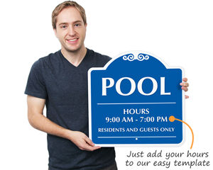 Pool Hours Sign