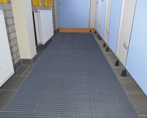 Notrax Safety Grid Pool Mat for Locker rooms