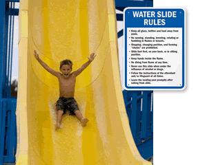Water Slide Rules Signs