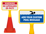 Cone Top Pool Signs