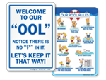 Funny Pool Signs