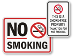 More No Smoking Signs
