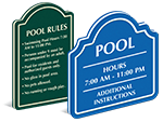 PermaCarve Pool Signs