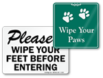 More Wipe Your Feet Signs