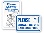 You Must Shower Signs