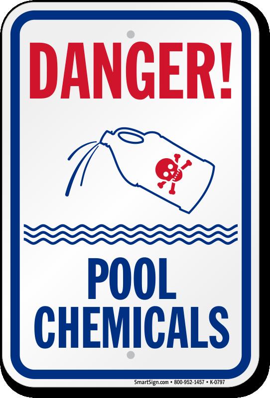Chlorine hazard pool signs - Dangers of chlorine in swimming pools ...
