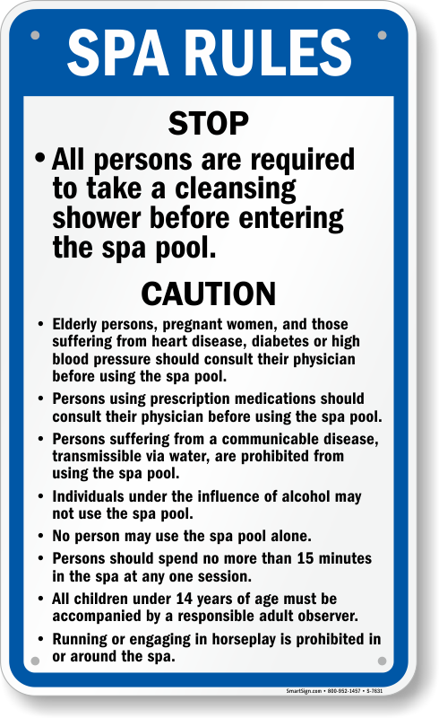 Oregon Swimming Pool Rules Signs