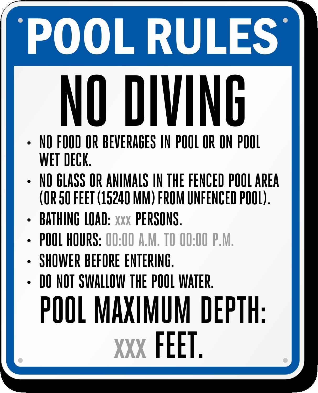Florida Swimming Pool Signs