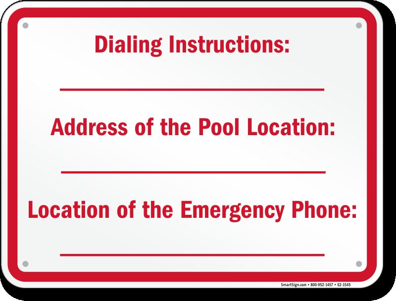 North Carolina Swimming Pool Signs
