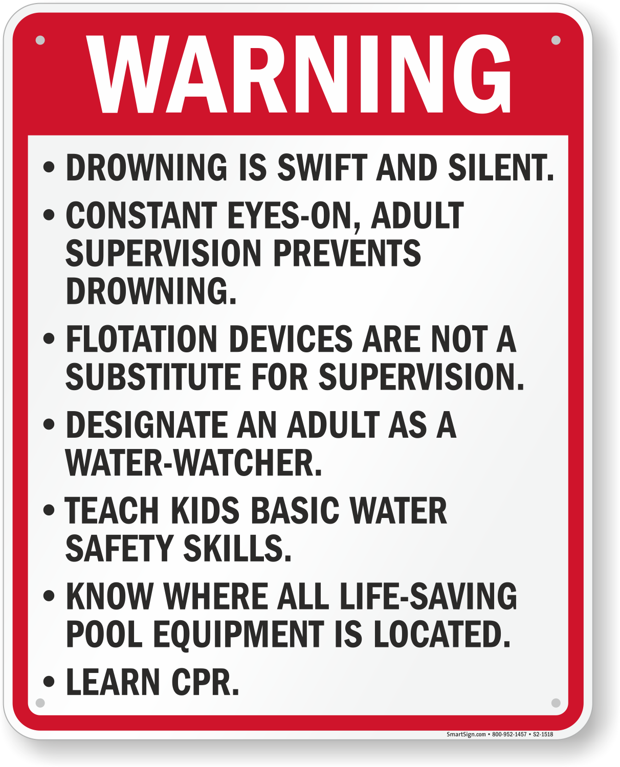 Florida Swimming Pool Signs