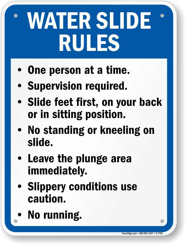 New York Swimming Pool Signs