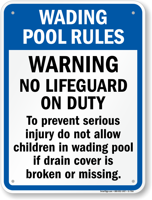 wading pool rules for north carolina sign sku s 7764