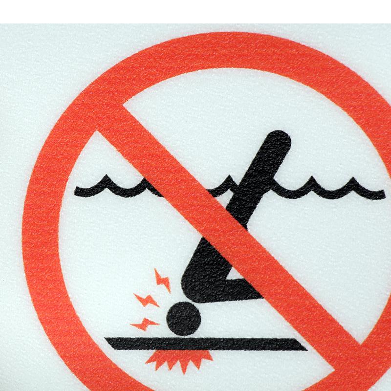 No Swimming Pool : No diving pool depth marker sign sku mk