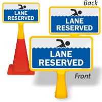 Lane Reserved ConeBoss Pool Sign