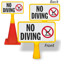 No Diving ConeBoss Pool Sign