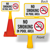 No Smoking In Pool Area ConeBoss Pool Sign