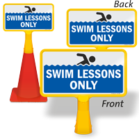 Swim Lessons Only ConeBoss Pool Sign
